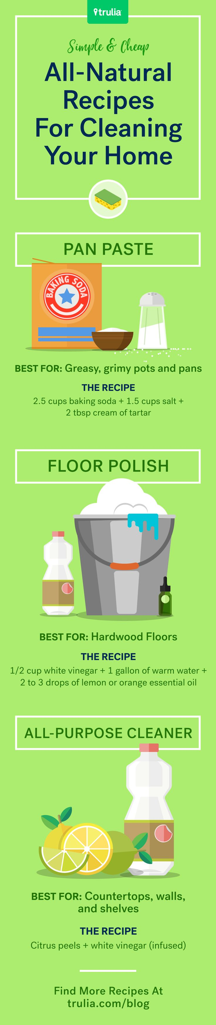 Best all natural cleaning products - 7 Recipes For Natural Cleaning Products For Your Home Life At Home Trulia Blog