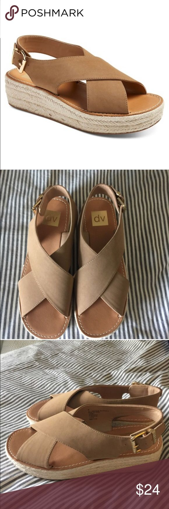 Dolce Vita espadrilles Never worn.  No tags/ No box .. sitting in closet and never got a chance to wear.  So neutral and easy to wear. DV by Dolce Vita Shoes