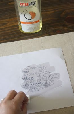 How to Make: French Label Placemats - The Graphics Fairy