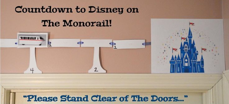 Using the Monorail to Countdown to Your Walt Disney World Vacation {Free Printable}