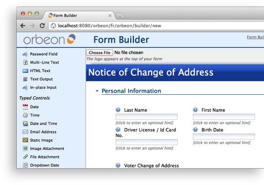 Orbeon Forms is your solution to build and deploy web forms  It