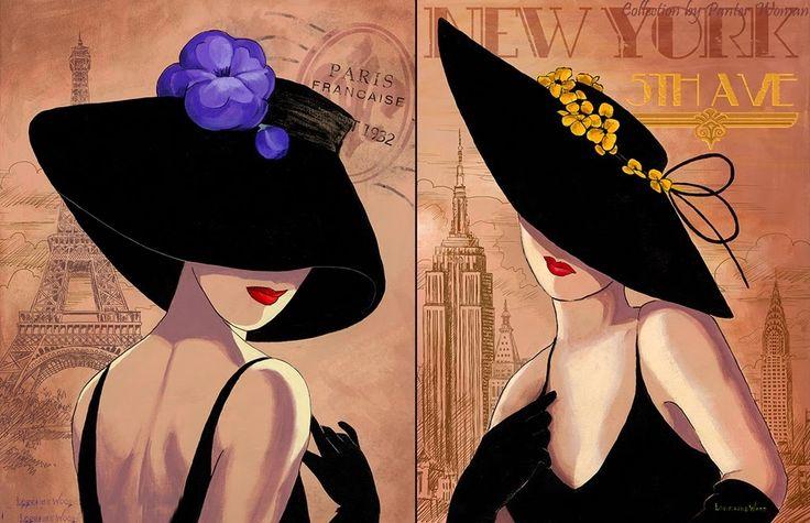 Lorraine Dell Woo ~ Flirty Hat | Tutt'Art@ | Pittura * Scultura * Poesia * Musica |