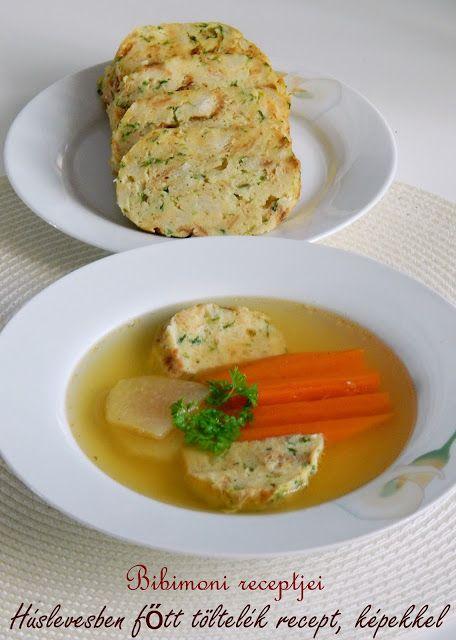 Bibimoni Receptjei: Húslevesben főtt töltelék recept, képekkel