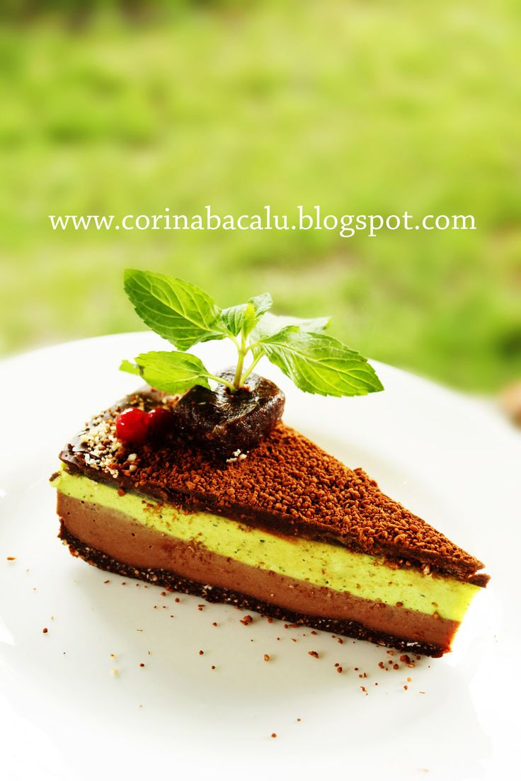 Chocolate Mint Cake Raw Vegan Desserts by Corina Bacalu.