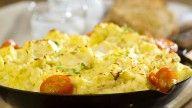 Kjapp fiskegrateng med moste poteter og hvitløk