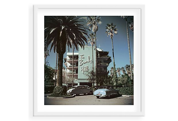 Slim Aarons Beverly Hills Hotel Cars New Living Room