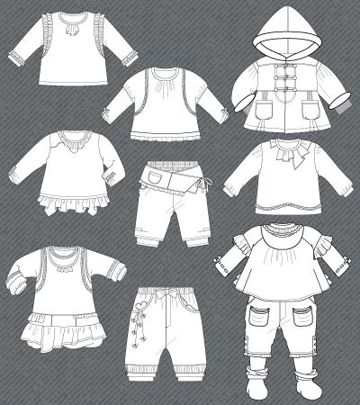 set-fashion-flat-sketches-baby-girl