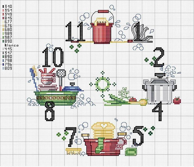 Relojes en punto de cruz (pág. 39) | Aprender manualidades es facilisimo.com