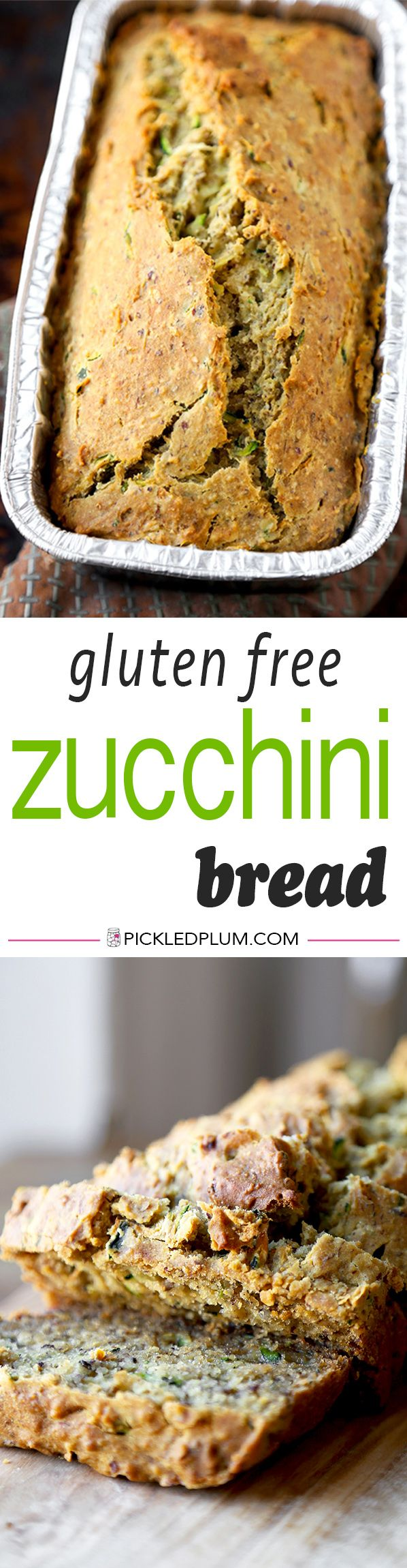 Gluten Free Zucchini Bread - This is an easy recipe for Gluten Free Zucchini Bread with a honey orange yogurt sauce that's the perfect balance between sweet and sour! We like this for Easter Brunch! Gluten free, easy, recipe | pickledplum.com