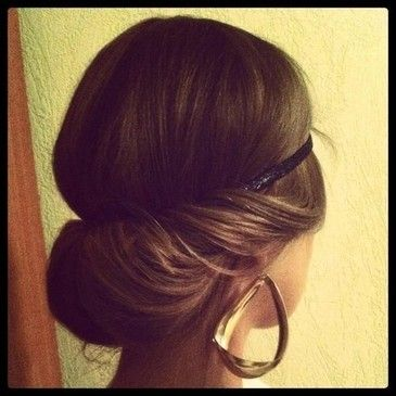 Homecoming Hairstyles, Up Dos, Vintage Hairstyles, Long Hair, Beautiful, Hair Style, Headbands, Retro Style, Updo