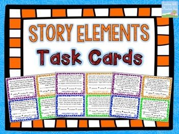 Story Elements Task Cards { Character, Setting, Problem, S