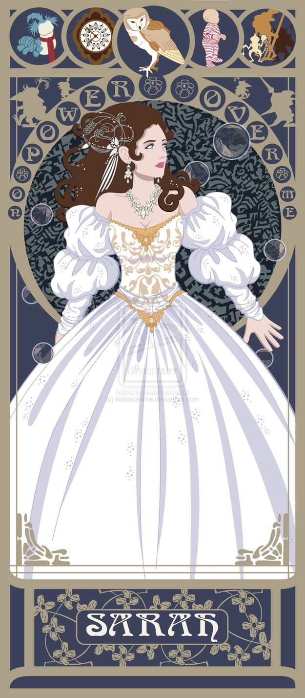Sarah - Labyrinth  80s movie heroines in art nouveau
