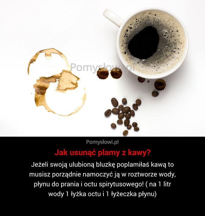 Jeżeli swoją ulubioną bluzkę poplamiłaś kawą to musisz porządnie namoczyć ją w roztworze wody, płynu do prania i octu spirytusowego! ...