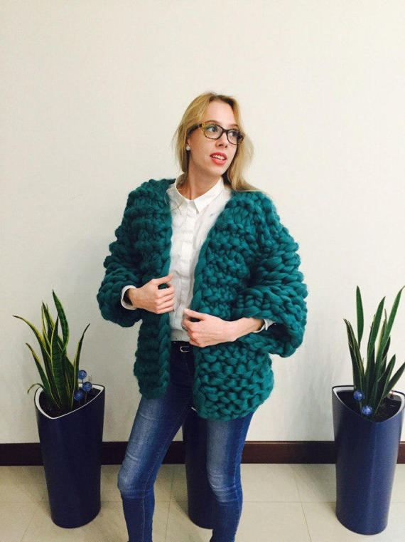 VENTA Super lana de Merino gruesa chaqueta-abrigo