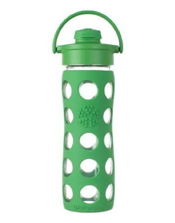 Best Water Bottle EVER for adding essential oils to your water because it's glass (and it's feels high quality, not like the cheap ones I've seen)!! Totally worth the price! Amazon.com: Lifefactory 16-Ounce Glass Beverage Bottle with Flip Top Cap, Grass Green: Kitchen & Dining