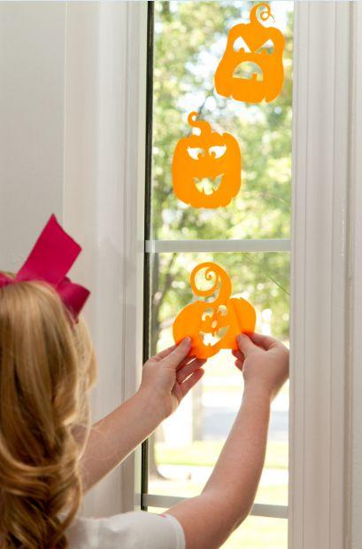 Window Cling Halloween Pumpkins Make It Now In Cricut