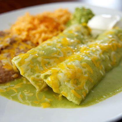 5 Low-Calorie Mexican Recipes: Green Enchiladas, Sour Cream, Low Calories, Mexicans Food, Mexicans Dishes, Spinach Enchiladas, Corn Tortillas, Shape Magazines, Mexicans Recipes