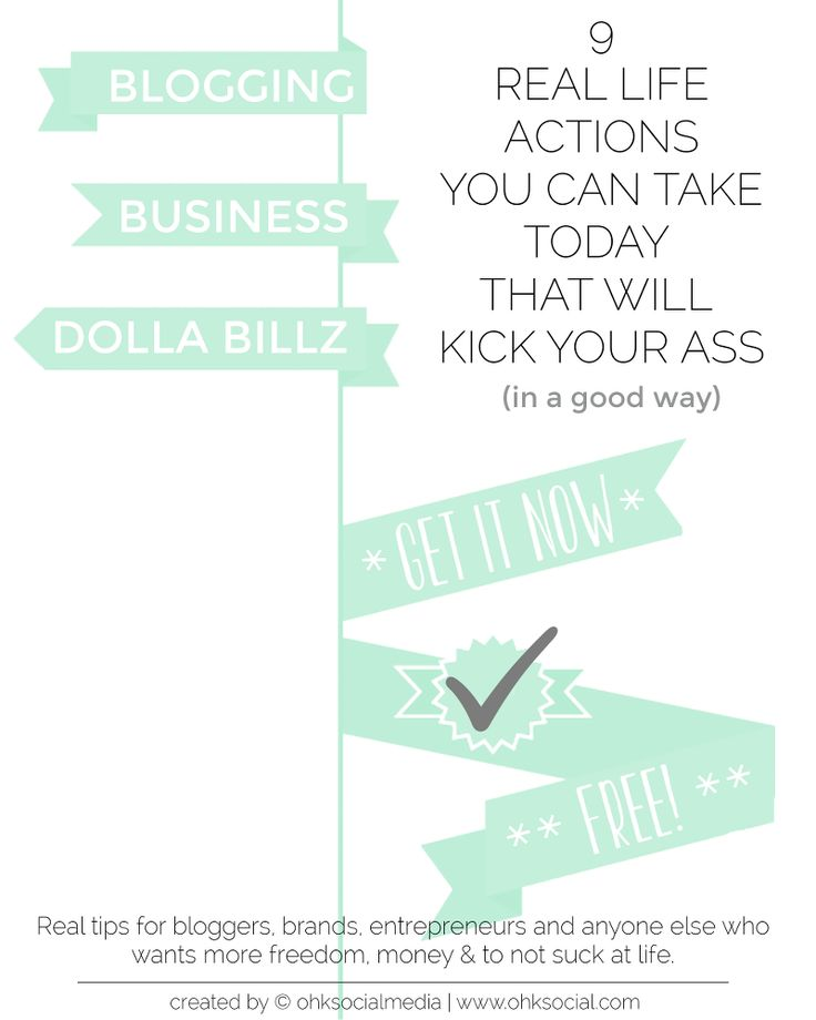 FREE E-Book for Entrepreneurs, Brands & Bloggers: 9 Real Life Actions You Can Take Today that will Kick Your Ass - ohksocialmedia http://ohksocial.com/free-e-book-entrepreneurs-brands-bloggers-9-real-life-actions-can-take-today-will-kick-ass/