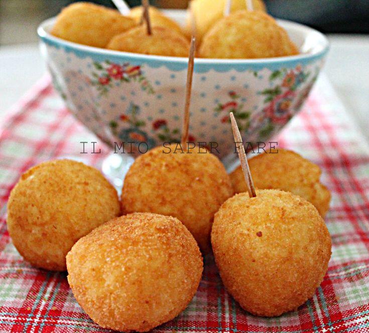 Crocchette di riso allo zafferano finger food  IL MIO SAPER FARE