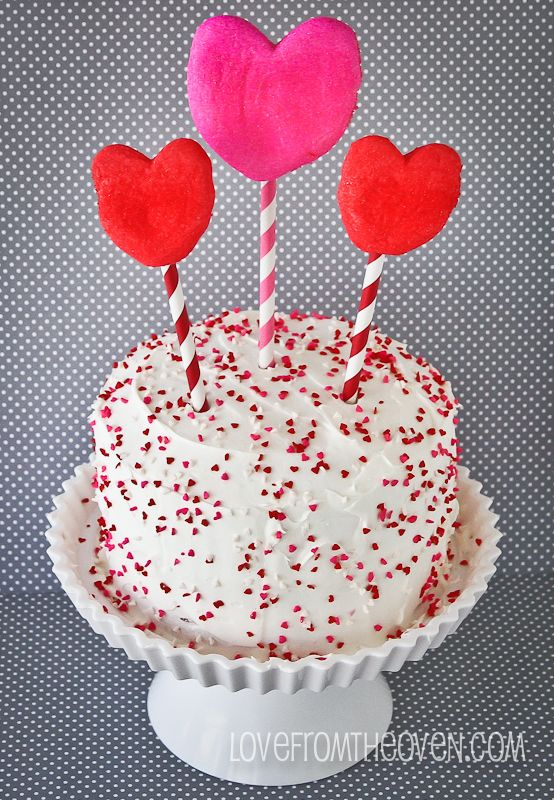 Pink Velvet Valentine's Day Cake.  #Valentines | Love From the Oven