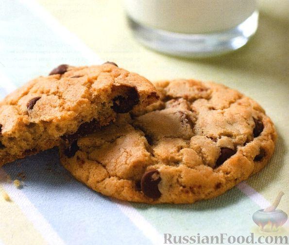 Фото к рецепту: Песочное печенье с шоколадом