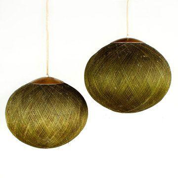 '60s Spun Fiberglass Lamp Pair