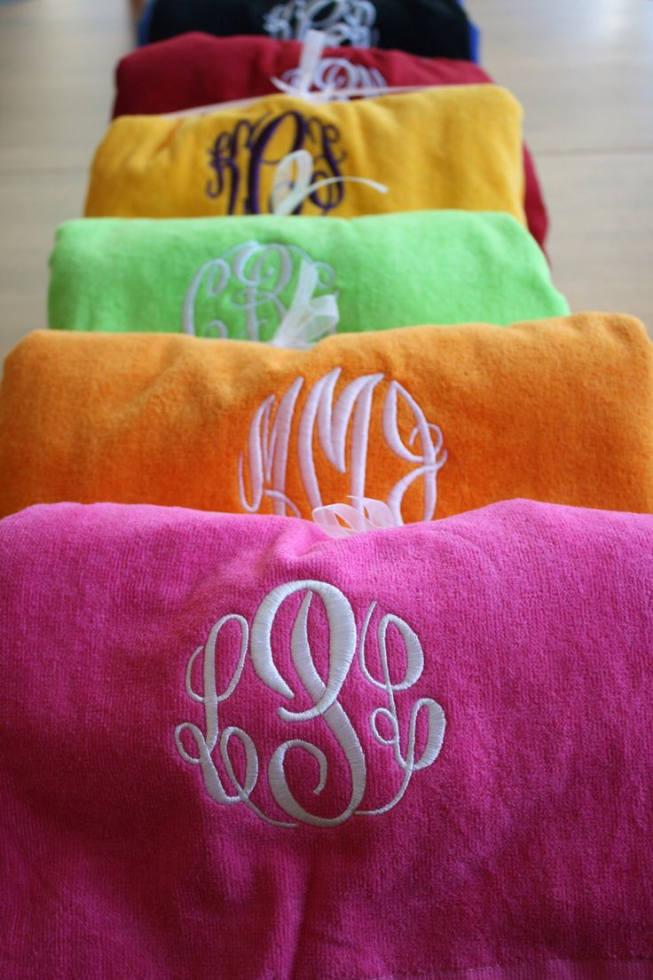 monogrammed beach in 7 colors by on etsy https - Monogrammed Beach Towels