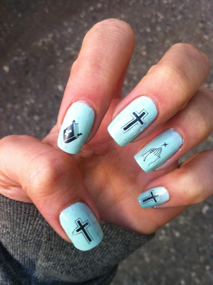 My Sweet Baby Jesus Nails // Nail Stamp