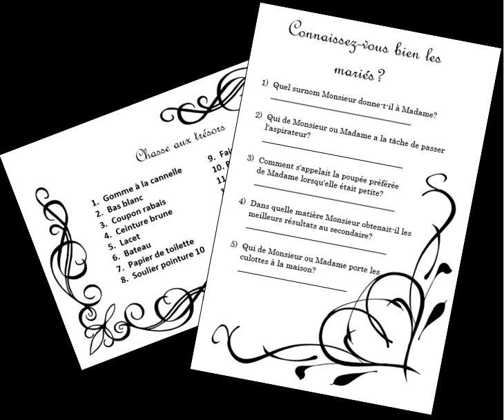 Des jeux questionnaires peuvent divertir vos invités entre les services