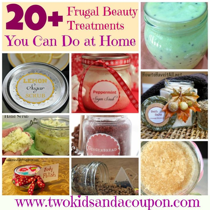 Frugal Beauty Treatments #DIY #frugal #athome #homemade