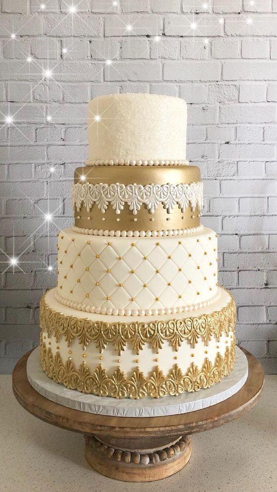Four Tier Faux Wedding Cake Fake Wedding Cake Display Cake The