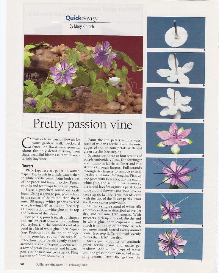 259 best plants images on pinterest dollhouse miniatures mini passionflower vine tutorial diy flowersflowers gardenpaper flowersdollhouse tutorialsminiature mightylinksfo