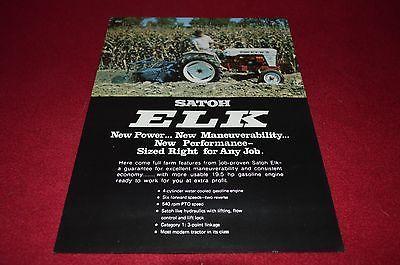 Satoh Elk Tractor Dealers Brochure YABE11