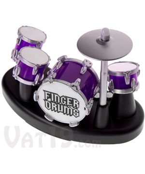Finger Drums: Tap the drums and record your own beats.  ♥here, a drum set for u I can afford..lol