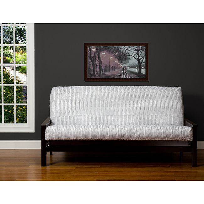 Give your futon new life with this softly sueded 100-percent polyester 3-sided zipper futon cover. This futon cover fits a 7-inch, 8-inch, and some 9-inch queen-size futon mattresses.