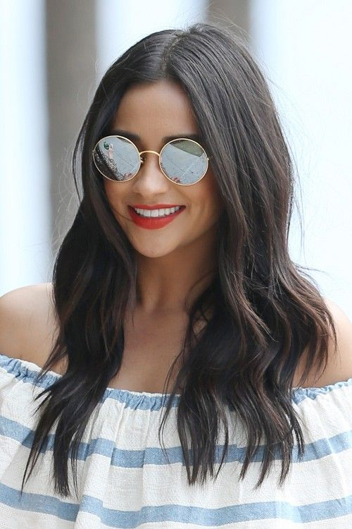 148426, 'Pretty Little Liars' star Shay Mitchell wears a matching off the shoulder striped top and shorts as she takes a walk in Miami. The beautiful 28 year old actress performed in Little Havana last night, and this morning went to South Pointe Park to do a video question and answer session for her 3.19 million twitter followers. Shay was seen wearing her brunette hair over her shoulders, wearing an off the shoulder striped top and shorts set. Miami, Florida - Sunday February 21, 2016…