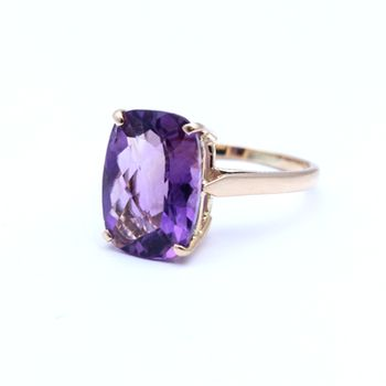Amethyst set in 14 ct Rose Gold View our other coloured stone rings online or in store.  www.dor.co.nz 98 Richmond Rd, Grey Lynn.  #colouredstones #gemstones #jewellery #rings  #amethyst #rosegold #purple #shoponline