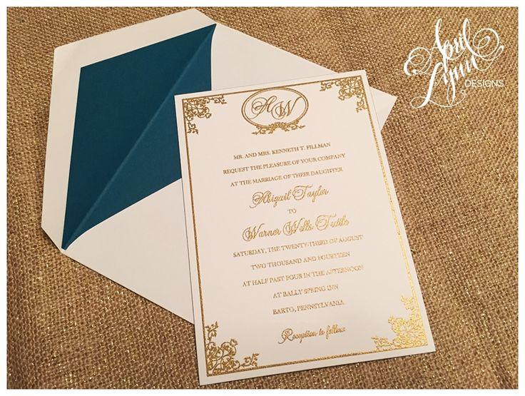 Abby + Warneru0027s Wedding Invitation Suite | April Lynn Designs | Custom  Stationery + Design Studio