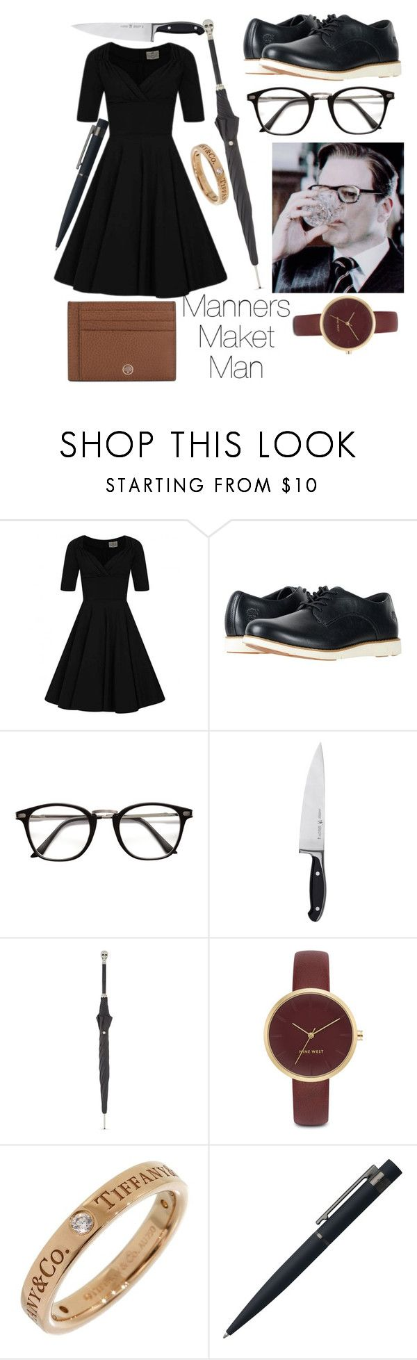 """""""Harry Hart!fem"""" by bonpary ❤ liked on Polyvore featuring Collectif, Timberland, Zwilling, Alexander McQueen, Nine West, Tiffany & Co., John Lewis and Mulberry"""