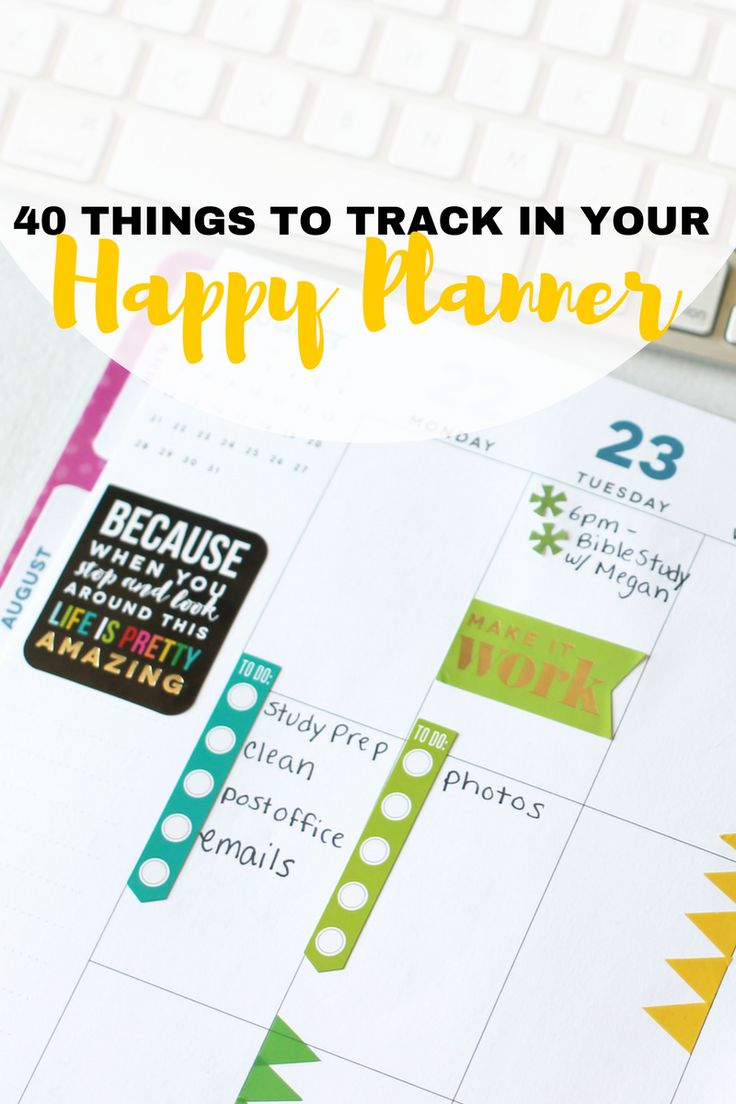 40+ Things To Track in Your Happy Planner