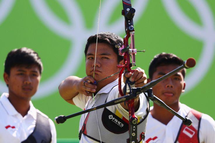 Day 1: Archery Men's Team - Muhammad Wijaya of Team Indonesia