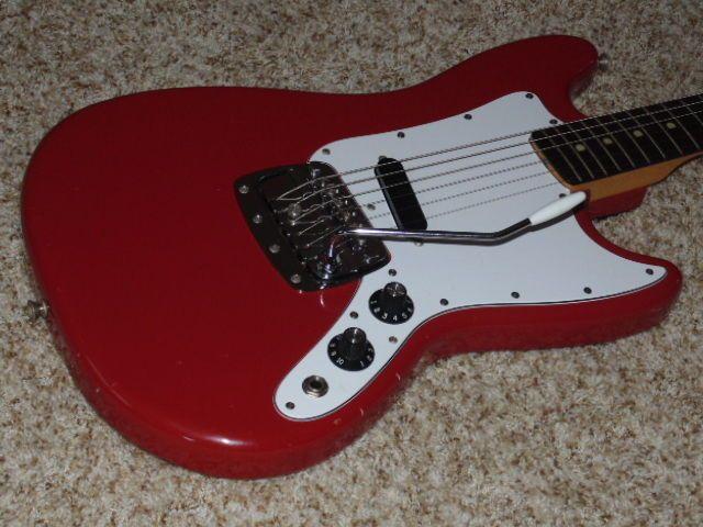 Vintage 1971 Fender USA Bronco Electric Guitar  Original Electronics  w/HSC