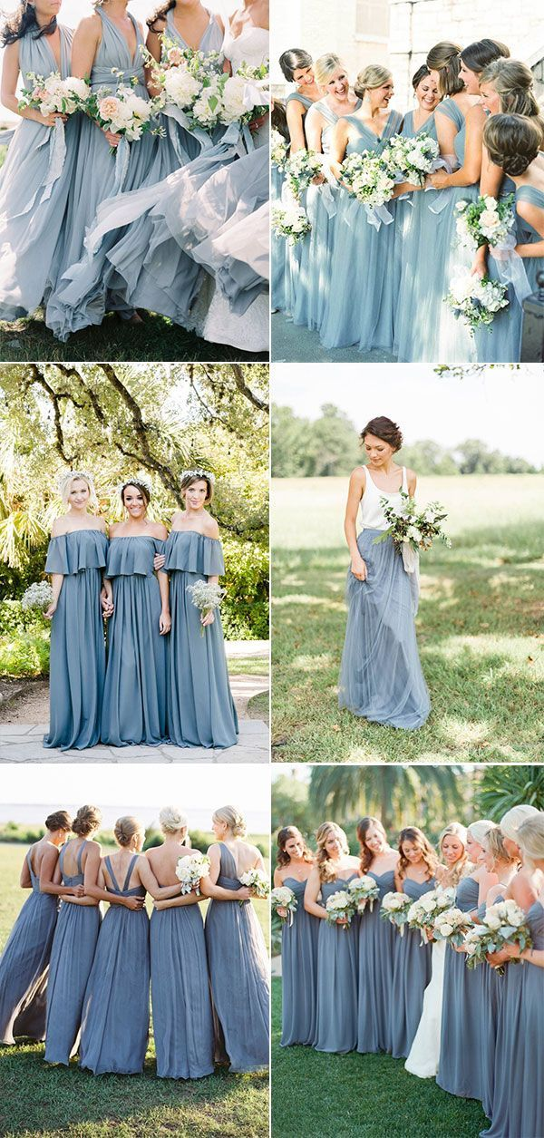 Top 10 Dusty Blue Bridesmaid Dresses Ideas On Pinterest Blue Bridesmaid Dresses Short Steel Blue Bridesmaid Dresses Bridesmaid Dresses Long Blue