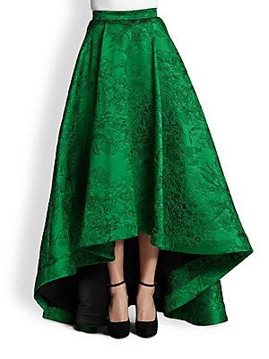 I truly think I would rather scrimp and save for this unbelievably embroidered emerald skirt than for rent.