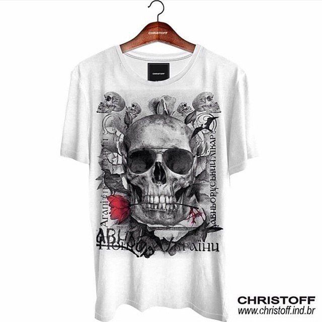 Camiseta Gola Básica Sunglass Skull. Loja online  Acesse 495db551349