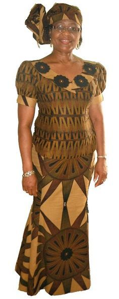 African Dress Patterns | Eni-Afe African Outfit CA-1003