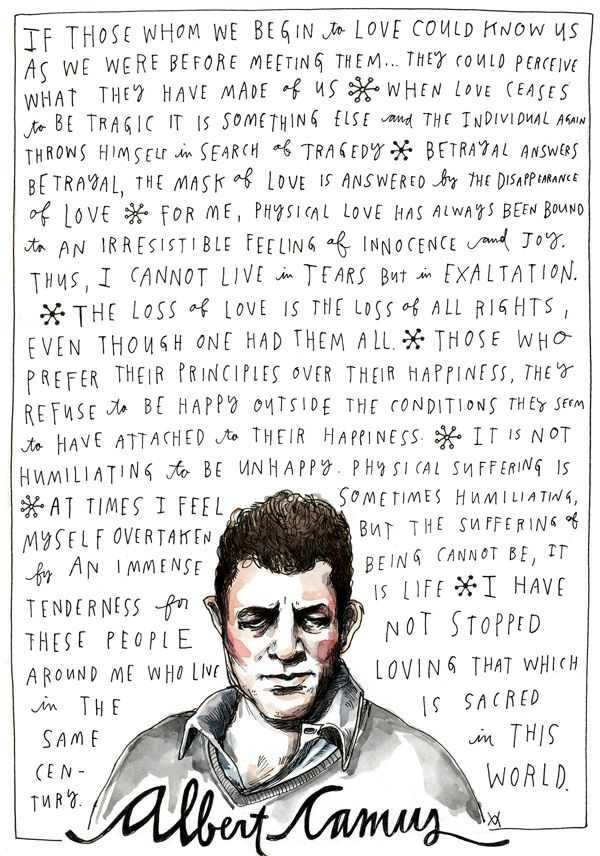 Albert Camus on Happiness and Love, Illustrated by Wendy MacNaughton   Brain Pickings