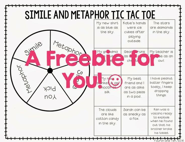 Simile and Metaphor Worksheets