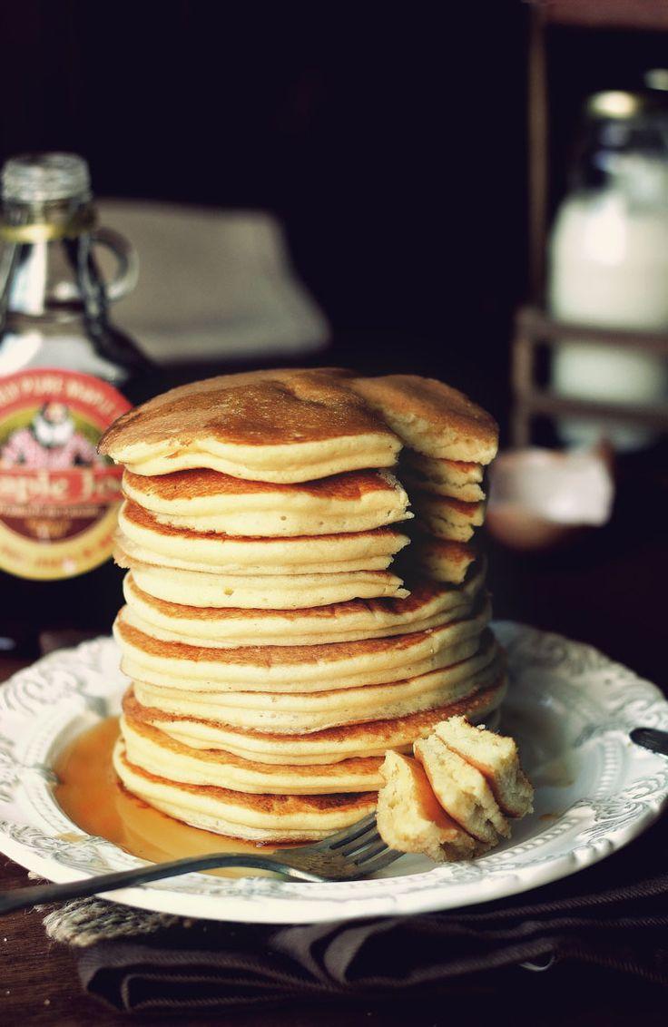 Kanela und Lemon: amerikanische Pancakes