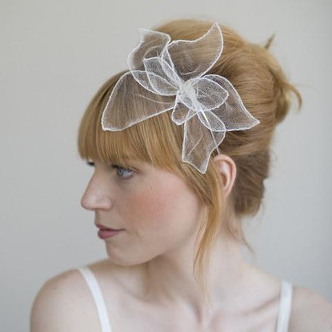 pretty tulle flower headband - for reception?